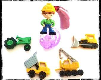Hörgeräte Rohr Schmuckstücke oder Cochlea-Cuties: arbeiten hart Baumaschinen!  Bitte wählen Sie die Menge 2 für ein paar!