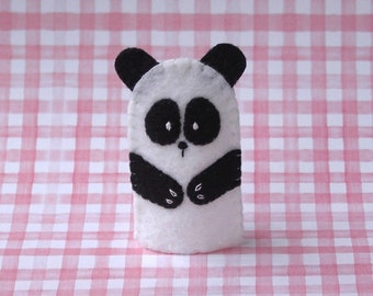 Panda Bear Finger Puppet - Felt Panda Puppet  Animal Finger Puppet - Zoo Animal - Asian Animal Puppet - Panda Bear Puppet