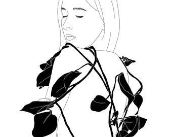 "Digital Illustration ""Plants are Friends"""