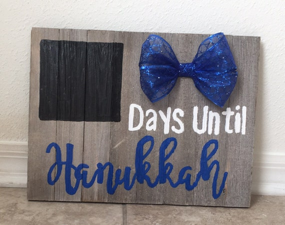 Countdown To Hanukkah Chalkboard Sign by Etsy