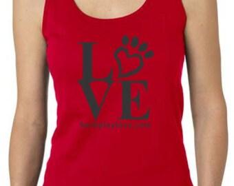 Animal Tank Top, Love Paw Print
