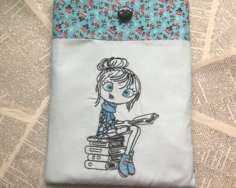 Sassy Girl Reading Book and Tablet Sleeve