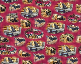 Labrador-Able~ Cute Puppy Fun Cotton Fabric By Quilting Treasures