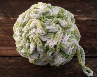 Crocheted Bath Pouf - Cotton bath pouf, big bath pouf, bath puff