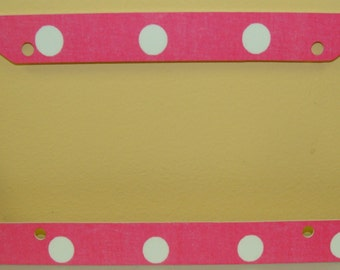 Car Tag Frame - can be personalized/monogrammed