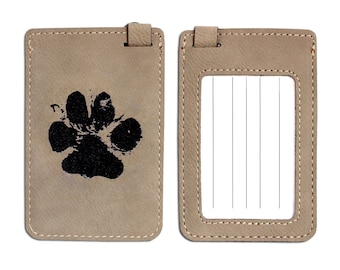 Luggage tag with the imprint of your animal engraved on it. Suitcase accessory, dog bag, luggage, transport bag, etc.
