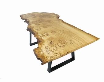 Oak burr Live edge dining table