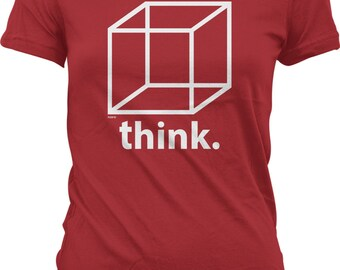 Think Outside of The Box Juniors T-shirt, NOFO_00940