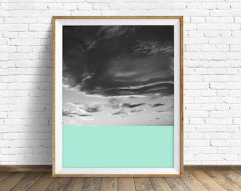 """black and white, abstract photography, large colorful wall art, instant download printable art, large art, wall art prints- """"Skyscape No. 4"""""""