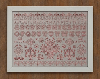 Frisian Cross Stitch Sampler No. 1 - Instant Download PDF Pattern