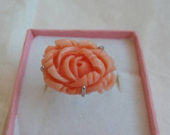 Mediterranean Coral rose Ring