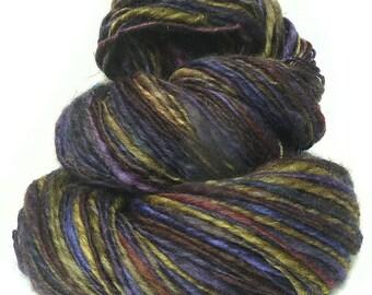 Handspun yarn handdyed BFL wool singles yarn hand spun hand dyed