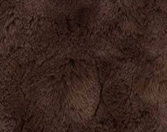 MINKY - Chocolate Brown Solid Bella from Michael Miller Snuggle Minky Collection