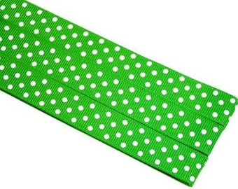 Pattern Magnet - Chart Keeper Magnetic Bookmark - Polka Dots (Kelly Green)