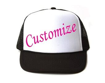 Custom trucker hat/ Two Tone Color trucker hat / baseball hat / custom gifts / gifts for her