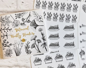 Botanical Weekly Headers Sticker Book - NO CODES PLEASE!