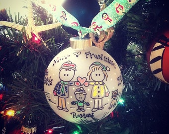 FAMILY Ornament YOU Choose Figures Mom, Dad, Kids PETS