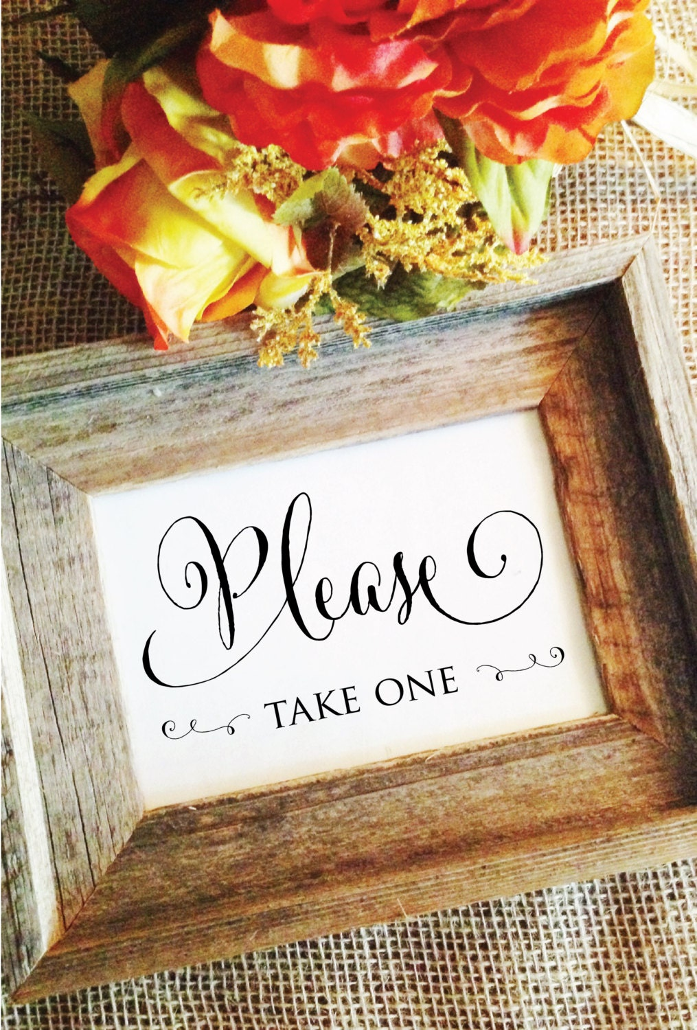 Wedding please take one sign Wedding Sign cute favors sign