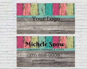 Personalized Rustic Business Cards, Direct Sales Printable, Network Marketing, Essential Oil Business Card Design, Unique Business cards