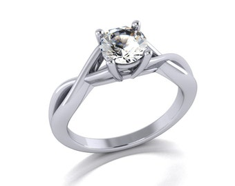 Moissanite engagement ring, style 78WM