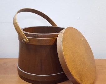 Round Pantry Box with Pegged Handle by the Cromwell Wood Products Company