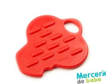 Red decorative element - shaped key - C34 - R5