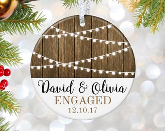 Engagement Gift for Couple Engaged Christmas Ornament engaged gift for bride gift for engagement ornament bride ornament