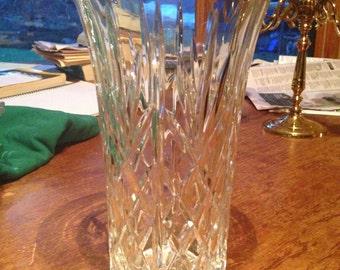 Crystal Vase, Flared Lead Crystal Vase
