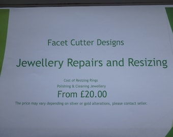 Jewellery Repairs and Ring Alterations