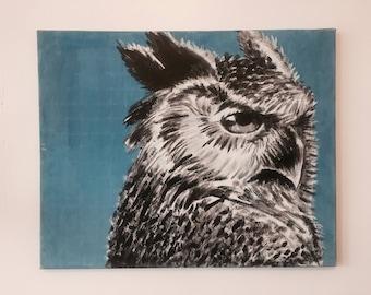 Original Owl Acrylic Painting