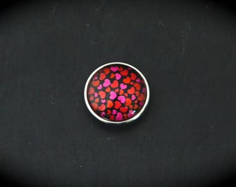 Cabochon 18mm for jewelry - hearts FN fancy pressure