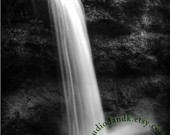 Black and White Photography - Waterfall Photography - Large Wall Art Fine Art Photography Print or Gallery Wrapped Canvas