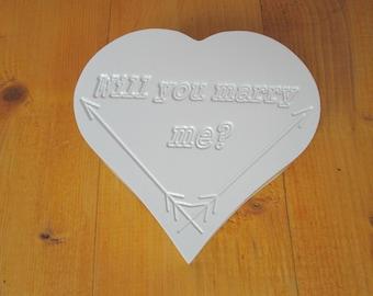 Wedding ring box, jewelry box, Will you marry me, Heart box, Womens gift, Goift for women, Gift box, Gift women