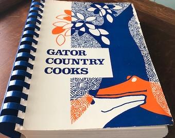 Vintage Cook Book  Florida Cookbook  Junior League Gainesville Fl Seafood Gator RecipeSouthern Foods Recipes