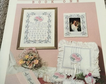 APRILSALE Dimensions Wedding Treasures by Nancy Rossi Book One counted cross stitch booklet