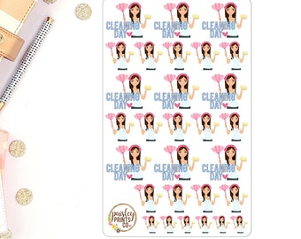 Cleaning Day Planner Stickers Cleaning Stickers for use in Erin Condren Planner Stickers