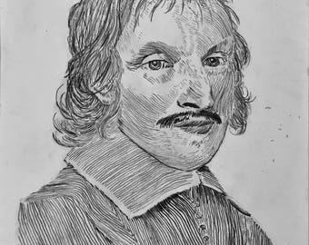 Sketch of Renaissance Era Man