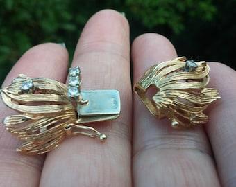 14k Gold Diamond Clasp For Necklace Or Bracelet Vintage 9.2 Grams