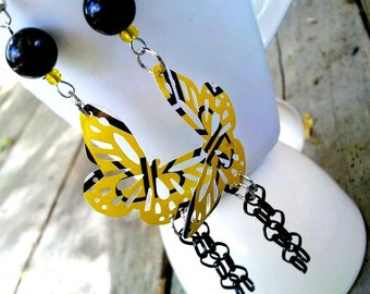 SALE RockStar Energy Yellow Earring Recycled Soda Can Jewelry Trending Jewelry Teen Girl Gifts Sale Items Upcycled Jewelry R30