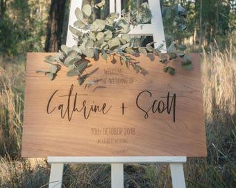 Wood wedding signs | Etsy
