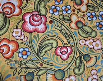 Last One!  One Yard of Bohemia floral Garden 100% Cotton Quilt fabric