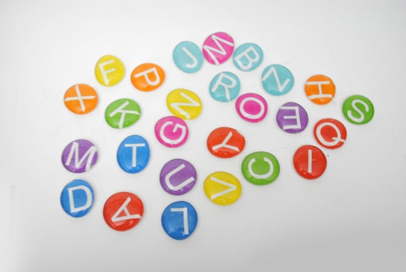 ABC Letters LARGE Uppercase Colorful Magnet Or Push Pin Set
