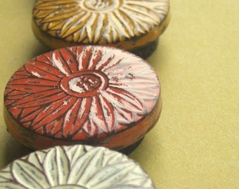 Rustic Daisy Magnet Set, Daisy Magnets, Refrigerator Magnets, Coworker Gift, Stocking Stuffer