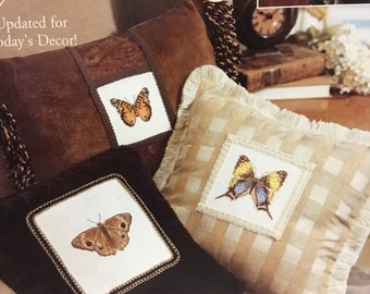 On Graceful Wings   Butterfly counted cross stitch pattern book