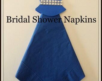 Bridal Shower-Wedding Dress-Bling Bridal Shower Napkins-Bridal Shower Decor-Bridal Shower Favors-Wedding Shower Napkins-Wedding Shower Decor