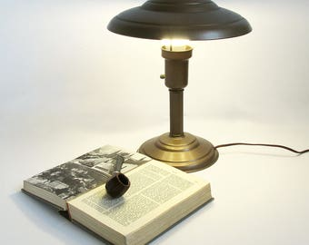 Library lamp etsy art deco style mushroom table lamp desk lamp library lamp mozeypictures Gallery