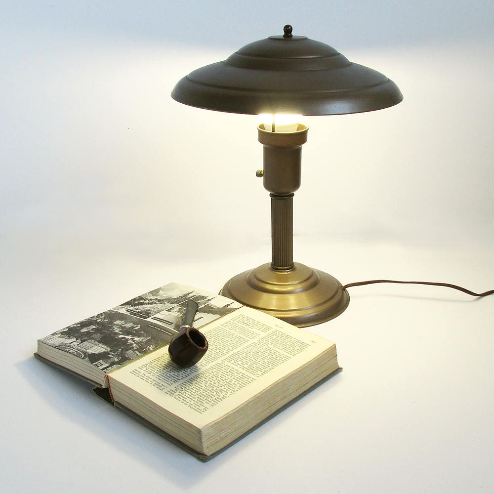 mushroom lamp library desk fullxfull style table listing art deco il