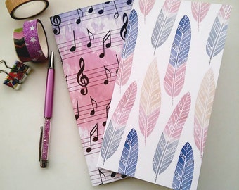 Always available - Set of Notebooks, Traveler's Notebook Insert, A5, Fauxdori Inserts, Fauxdori Notebooks, Field Note, Standard size