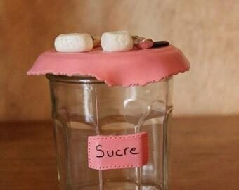 Jar for sugar (BL-025O)