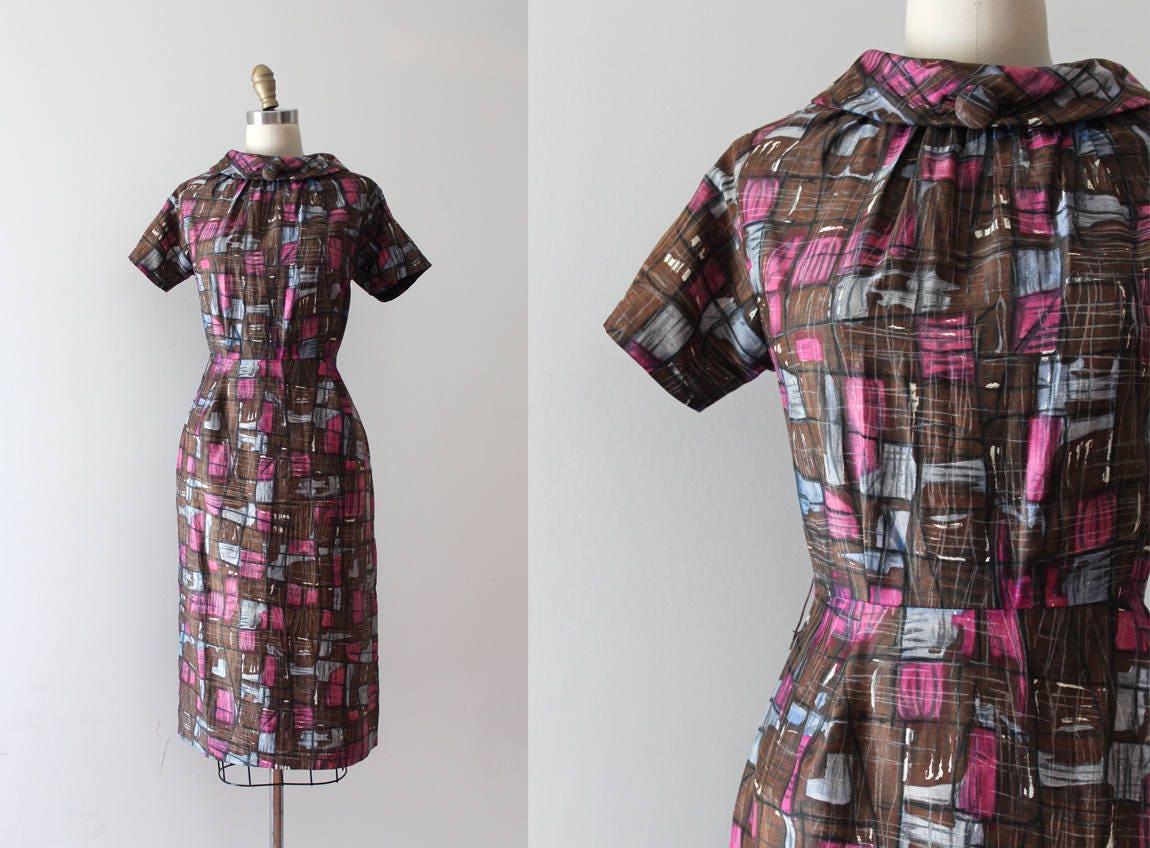 Spielraum-Jahrgang 1950-Kleid / / 50er Jahre mid Century